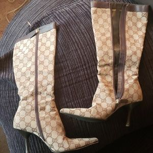 Vintage Women's Gucci Boot Heels SIZE 5 1/2 B